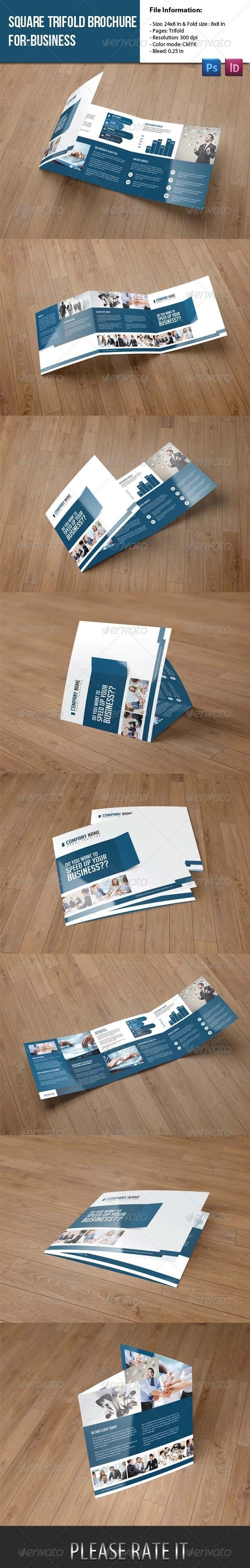 Square Trifold Brochure for Business - Corporate Brochures