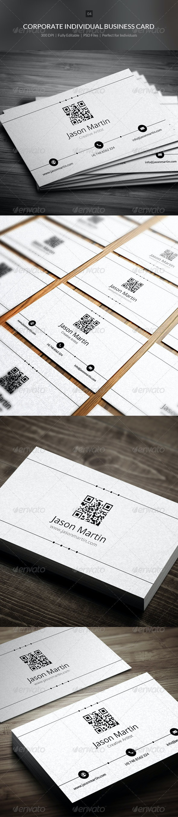 Creative Individual Business Card - 04 - Corporate Business Cards