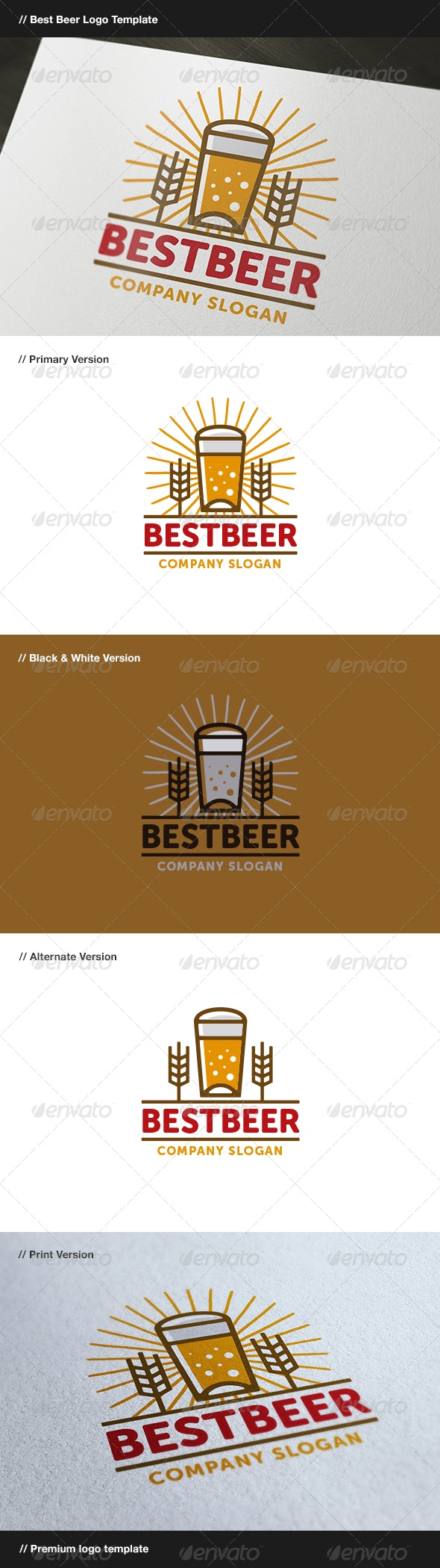 Best Beer - Food Logo Templates