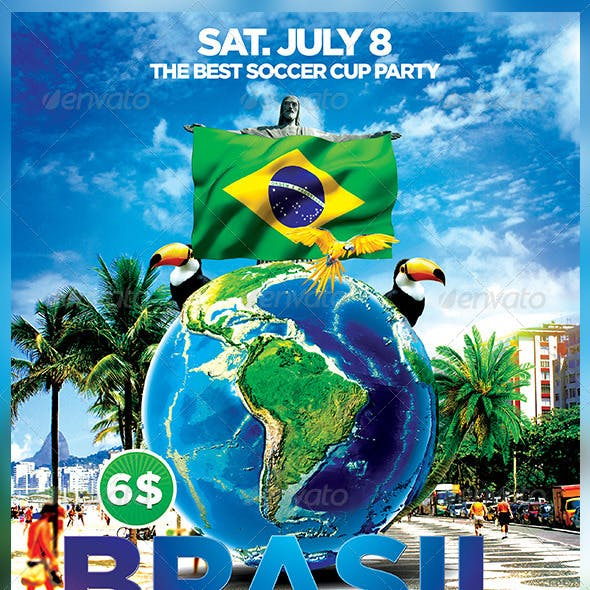 Brazil Party Flyer Template