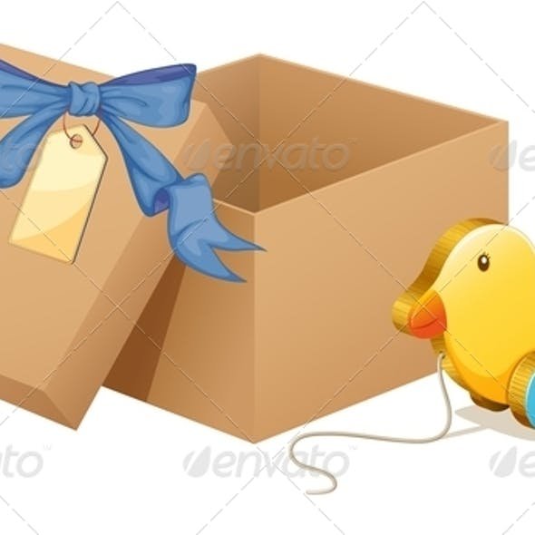 Toy Duck with Box