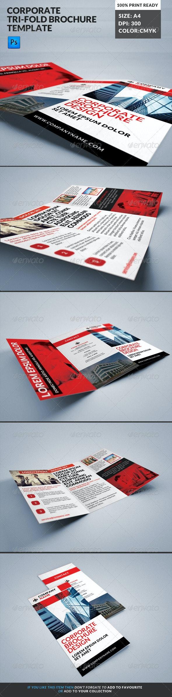 Corporate Tri-Fold Brochures Template 15 - Corporate Brochures