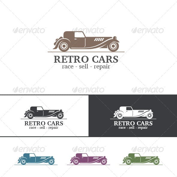 Retro Vintage Car Abstract Logo