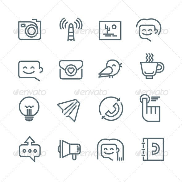 Communication and Networking Icons