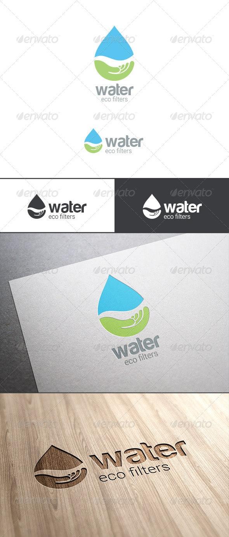 Eco Water Drop Logo - Nature Logo Templates