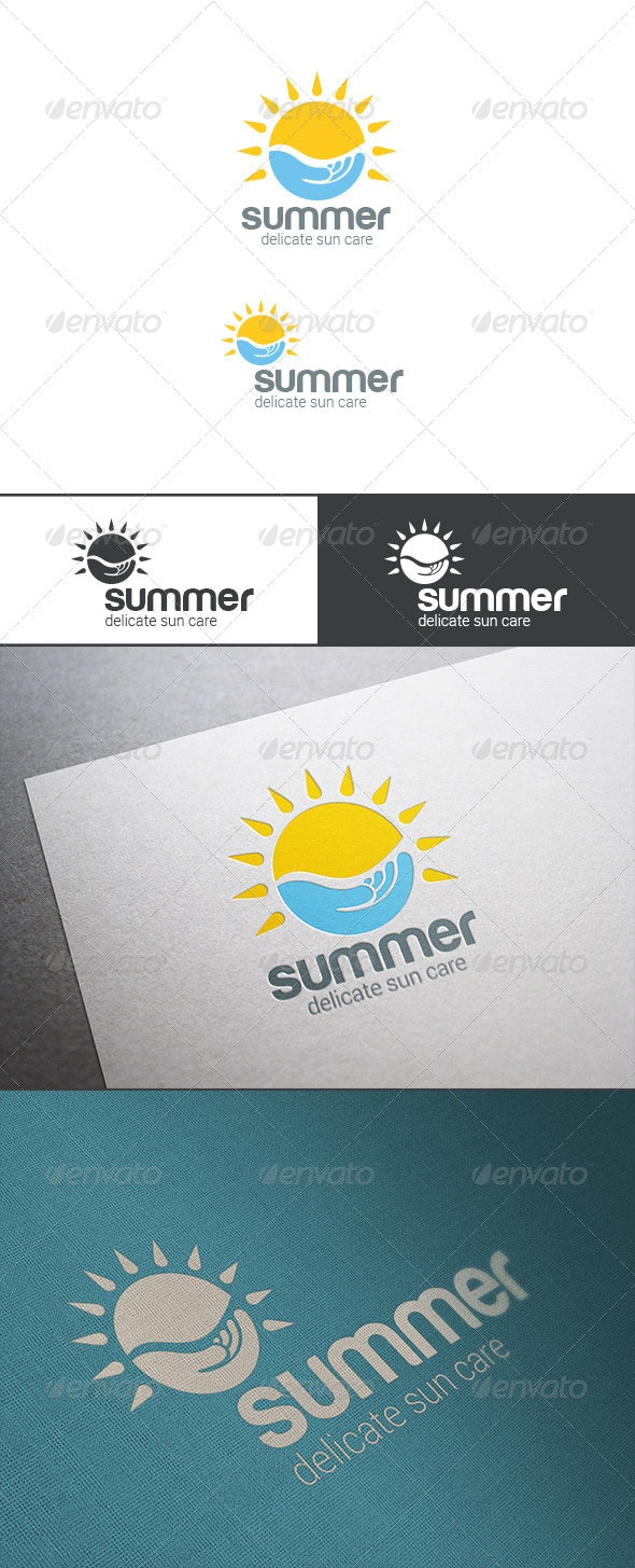 Summer Sun Care Alternative Energy Logo - Abstract Logo Templates