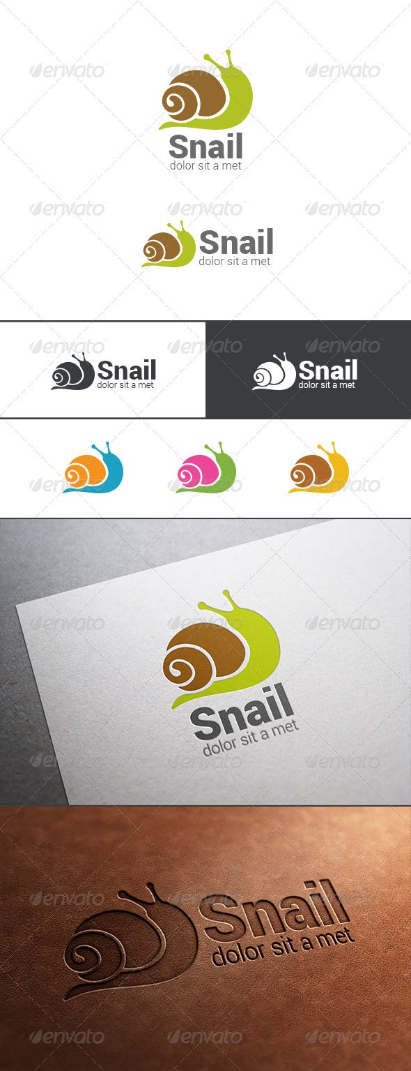 Logo Snail Silhouette Abstract - Animals Logo Templates