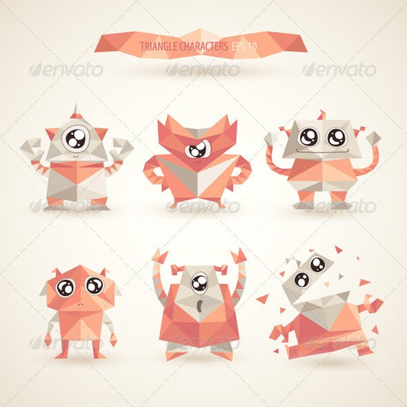 Triangle Robot Characters