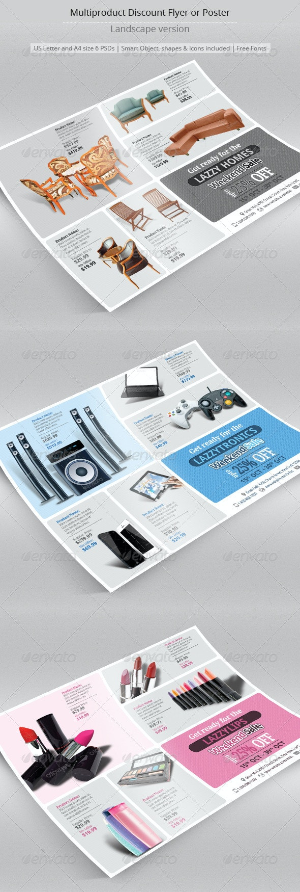 Multipurpose Discount Flyer or Poster - Flyers Print Templates