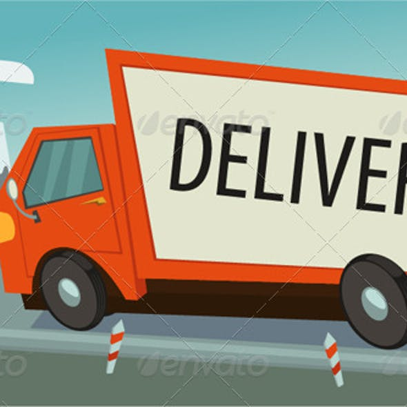 Delivery Truck (lorry), Shipping Concept