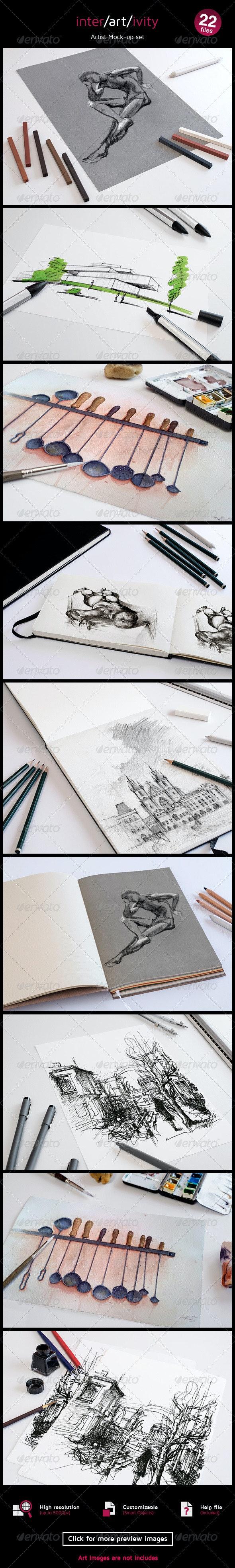 Graphic Artist Mock-up Set - Miscellaneous Product Mock-Ups