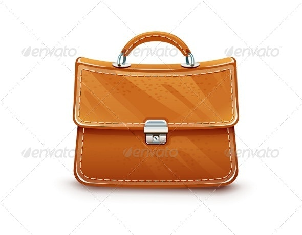 Leather Briefcase - Man-made Objects Objects