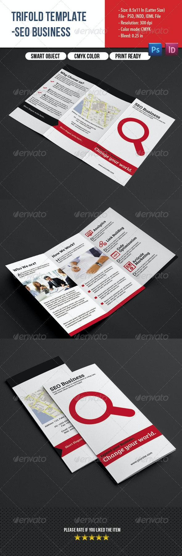 SEO Business Trifold - Corporate Brochures