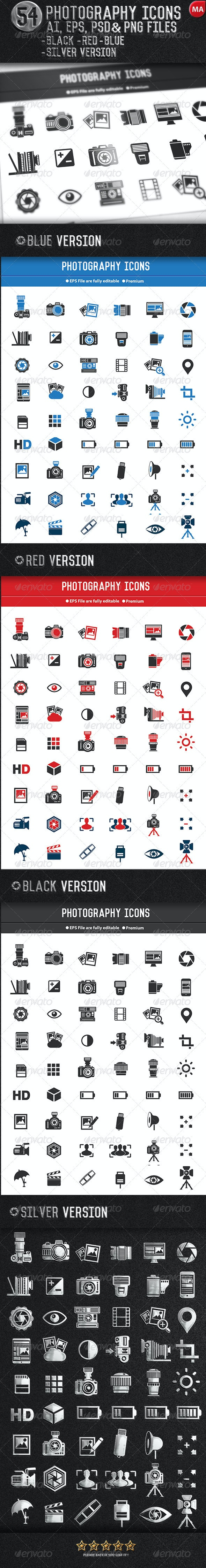 54 Photography Icons - Icons