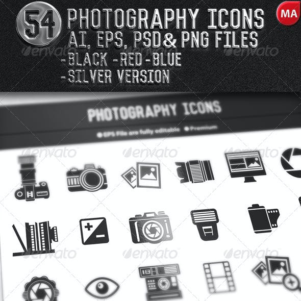 54 Photography Icons