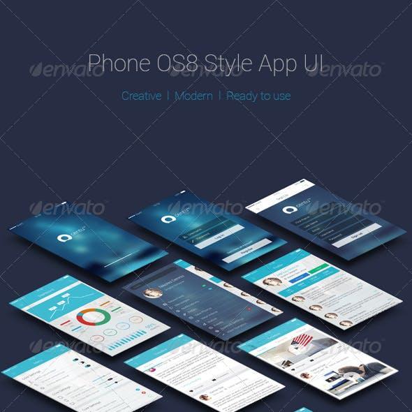 Phone OS8 Style App UI