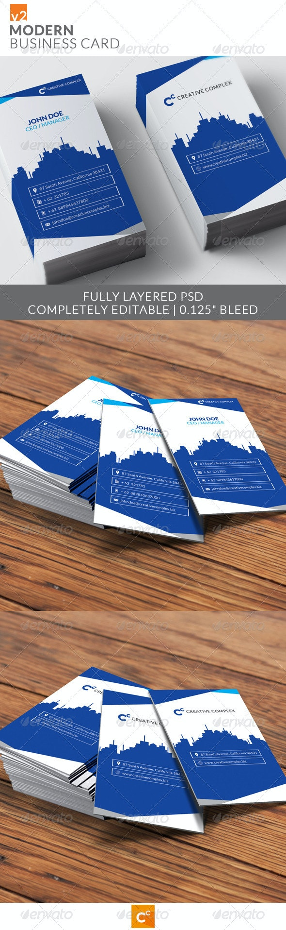Modern Business Card v2 - Corporate Business Cards