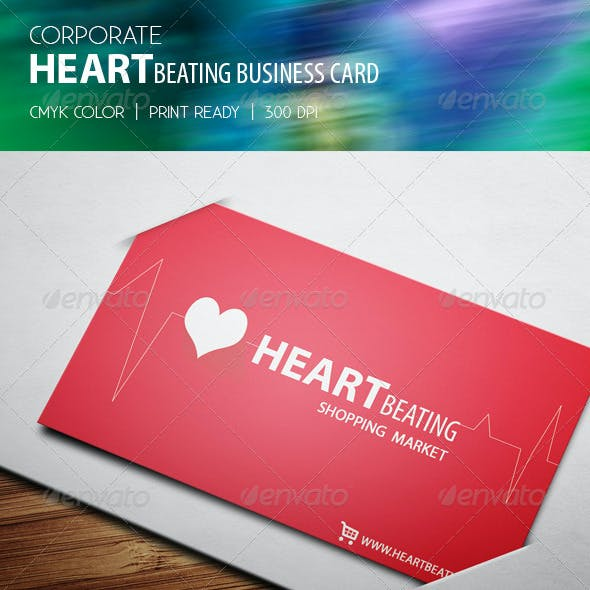 Corporate Heartbeating Business Card