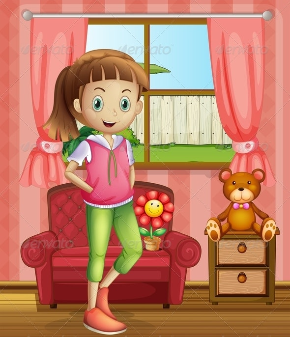 Girl Inside the House  - People Characters