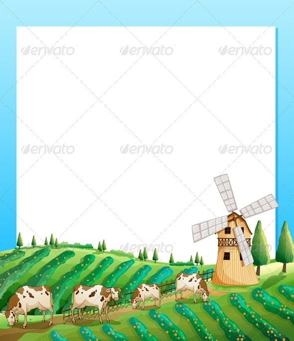 Empty Template with Farmland - Backgrounds Decorative
