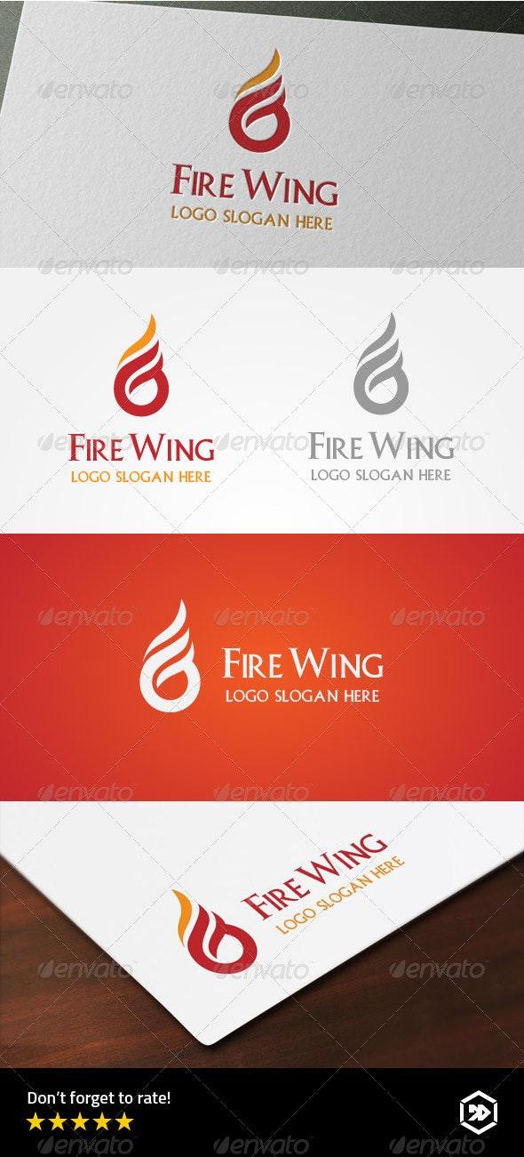 Fire Wing - Letter G Logo - Symbols Logo Templates