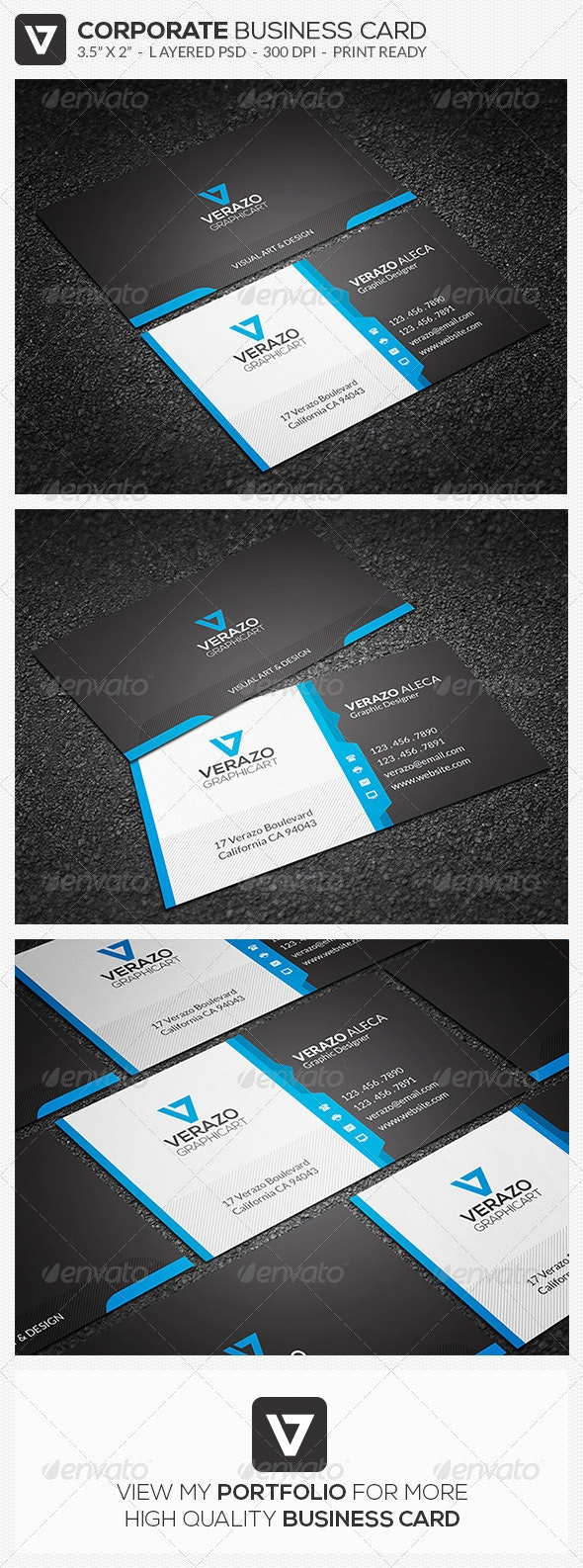 Creative Corporate Business Card 45 - Corporate Business Cards