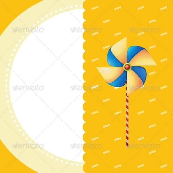 Stationery with Pinwheel  - Backgrounds Decorative