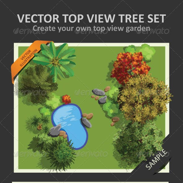 Top View Tree Set 01 by LintangDesigns | GraphicRiver