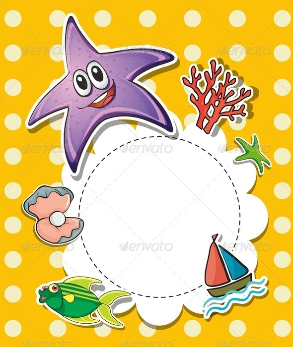 Stationary with Sea Creatures - Backgrounds Decorative