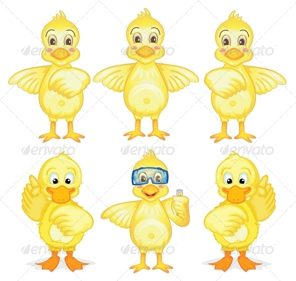 Six Ducklings  - Animals Characters