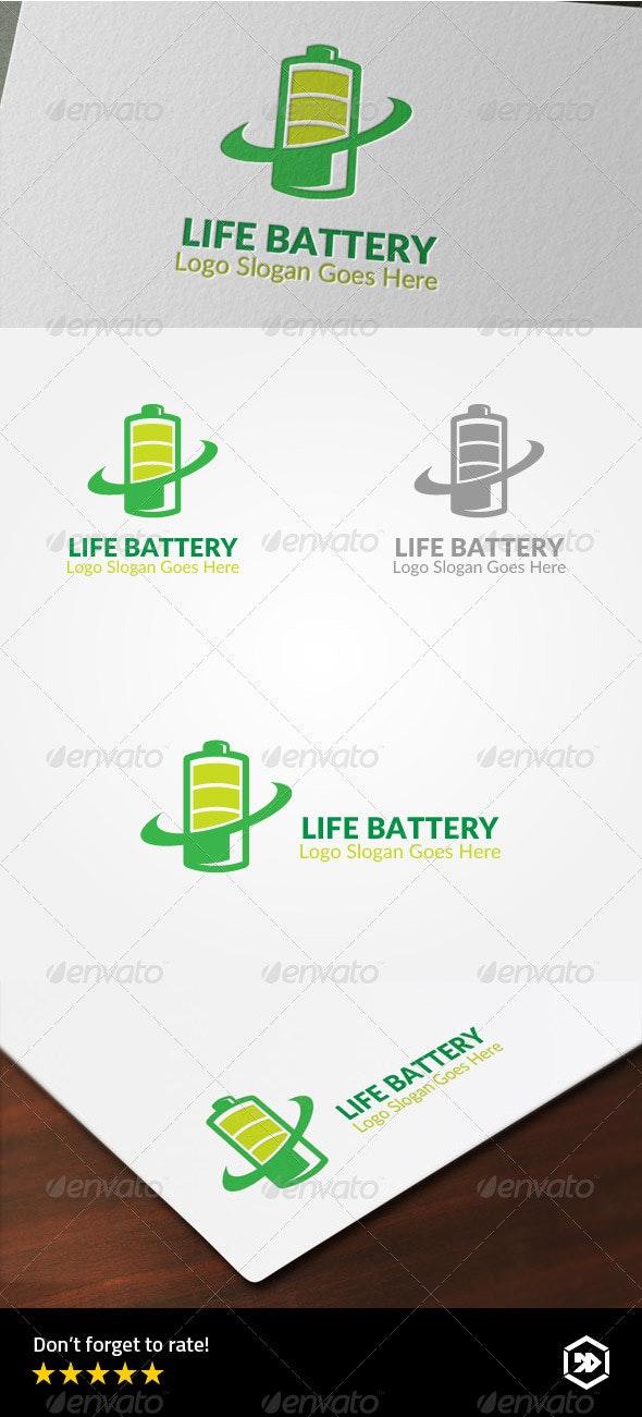Life Battery Logo - Objects Logo Templates