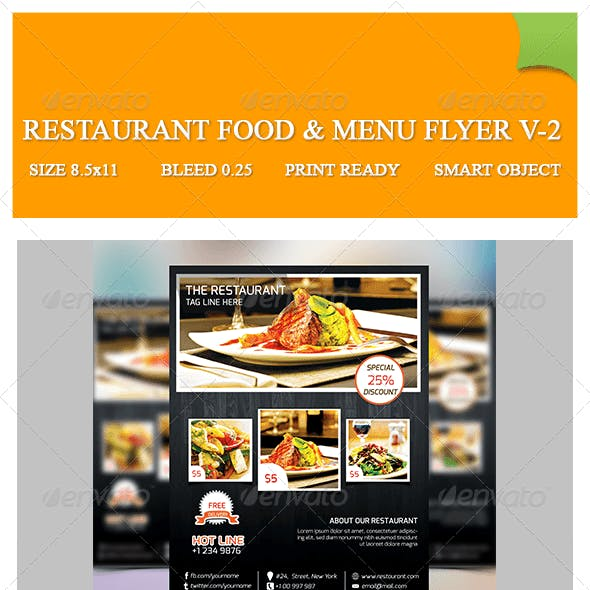 Restaurant Food & Menu Flyer V-2