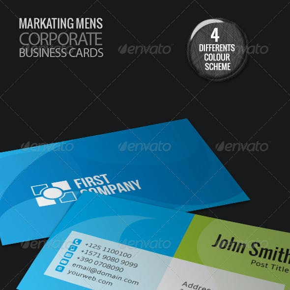 First Company Corporate Business Cards