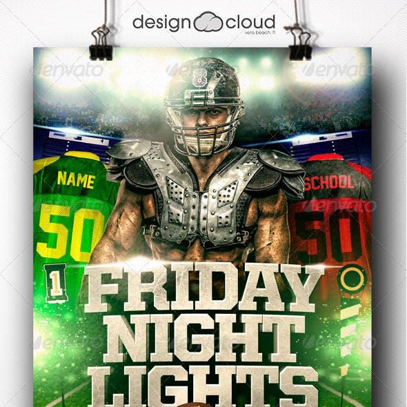 Friday Night Lights Football Flyer Template