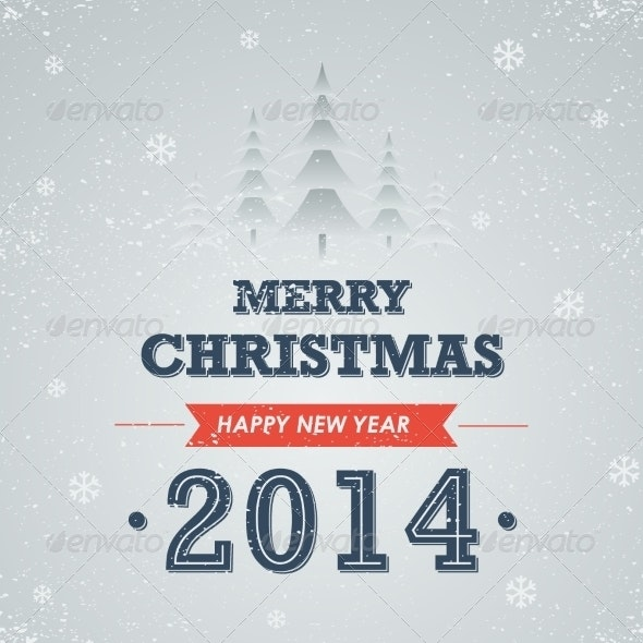 Merry Christmas and Happy New Year - Backgrounds Decorative