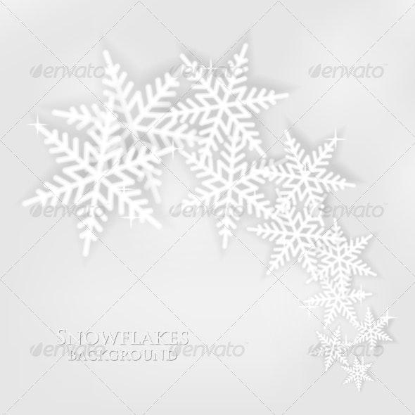 Snowflakes Background - Christmas Seasons/Holidays