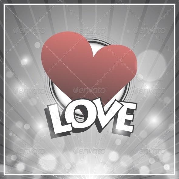 Retro Design, Love Background - Miscellaneous Vectors