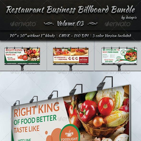 Restaurant Business Billboard Bundle | Volume 3