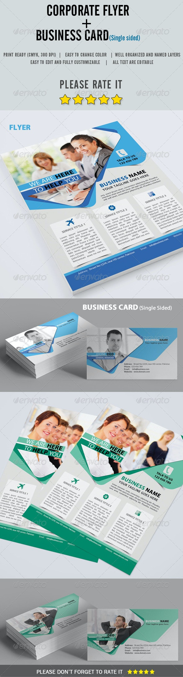 Corporate Flyer + Business Card - Corporate Flyers