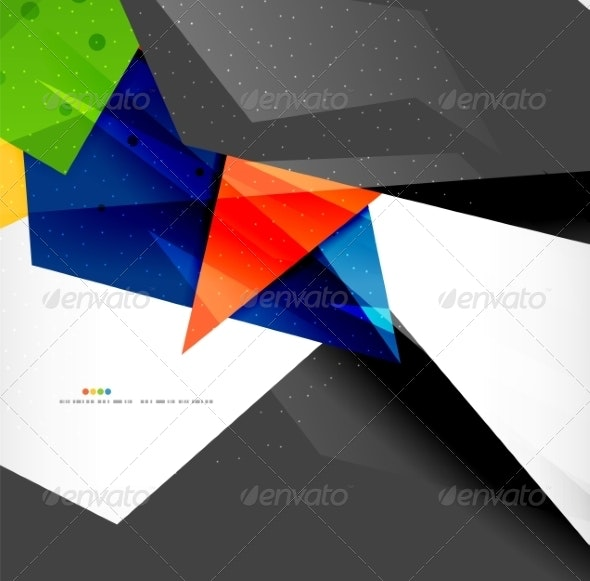 Abstract Geometric Shapes Background - Backgrounds Business