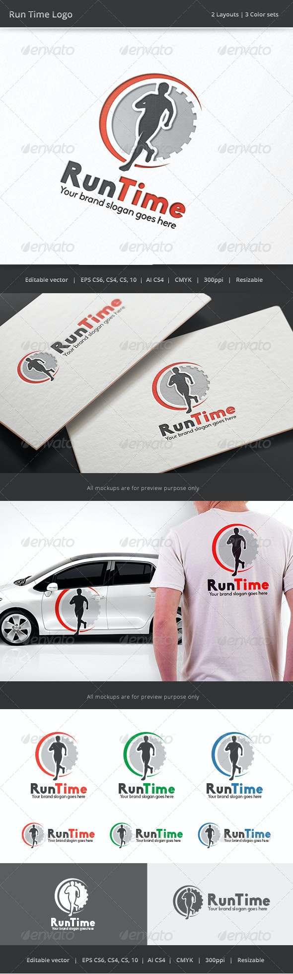 Run Time Fitness Logo - Humans Logo Templates