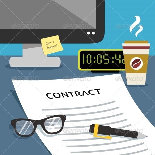 Contract on Desk - Concepts Business