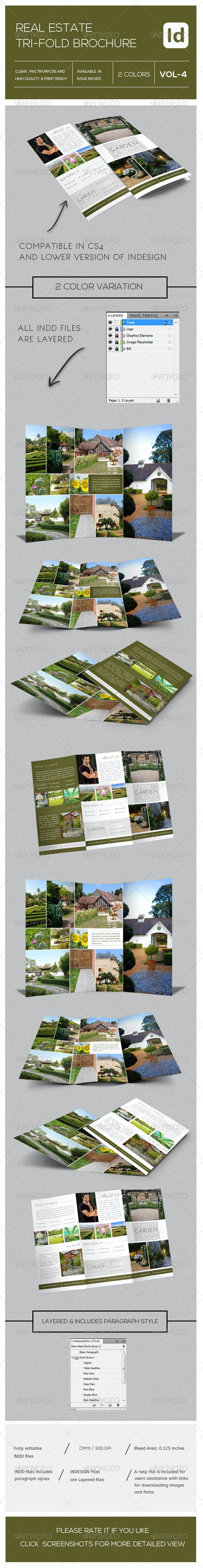 Real Estate Tri-Fold Brochure Vol-4 - Brochures Print Templates