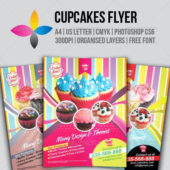 Cake Flyer Graphics, Designs & Templates from GraphicRiver