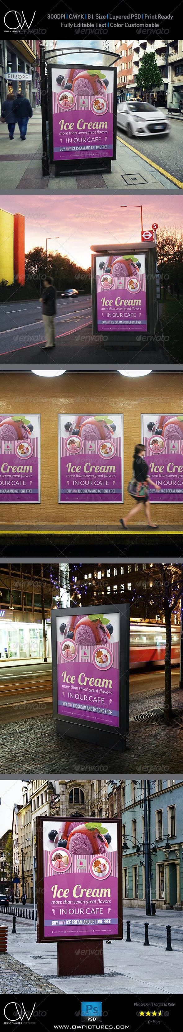 Ice Cream Poster Template Vol.2 - Signage Print Templates
