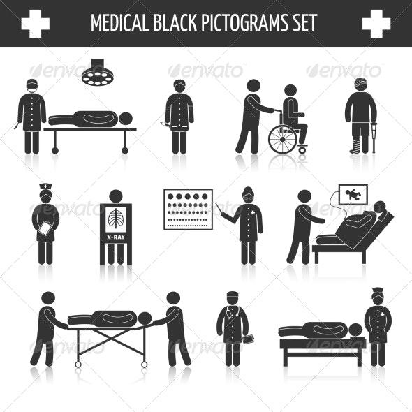 Medical Pictogram Set - Health/Medicine Conceptual