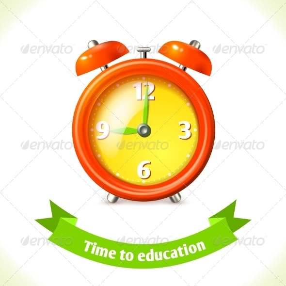Education Icon Alarm Clock - Man-made Objects Objects