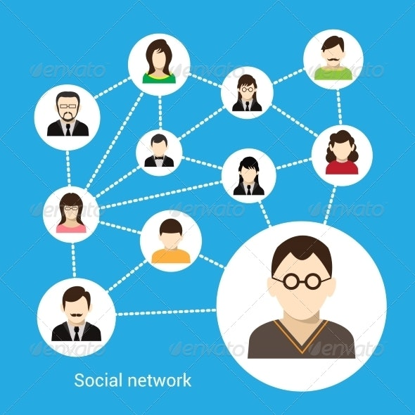 Social network concept - Communications Technology