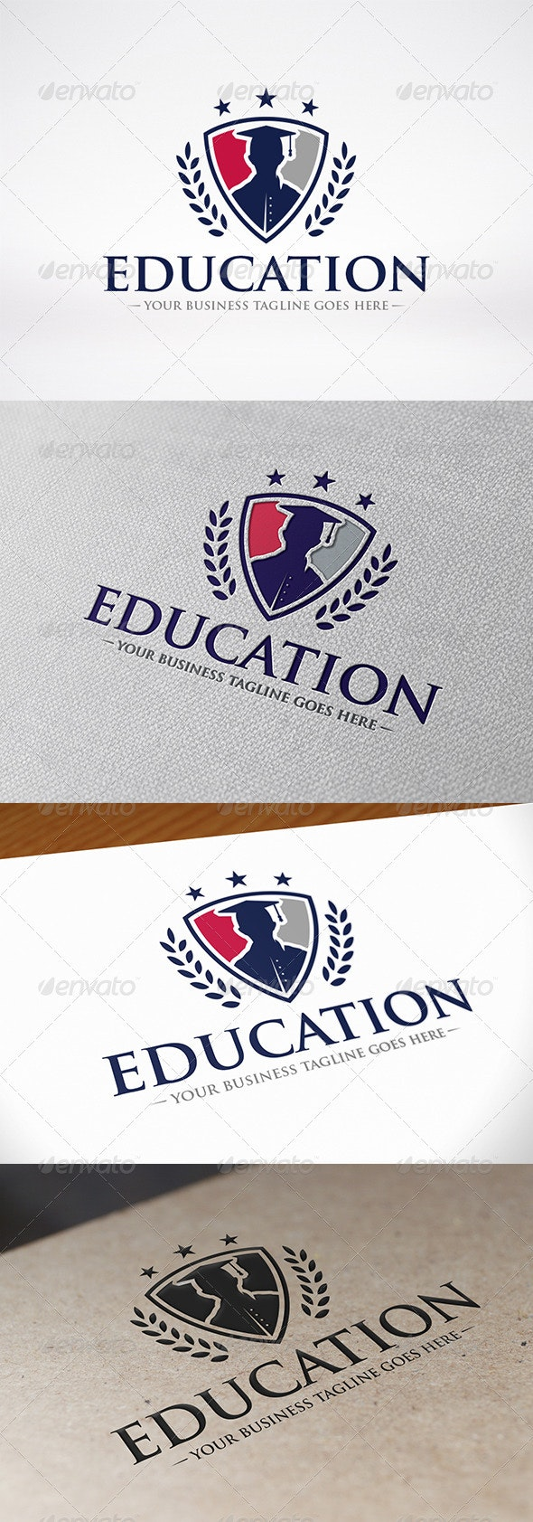 Education Logo - Crests Logo Templates