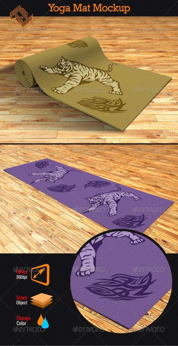 Yoga Mat Mockup - Miscellaneous Product Mock-Ups